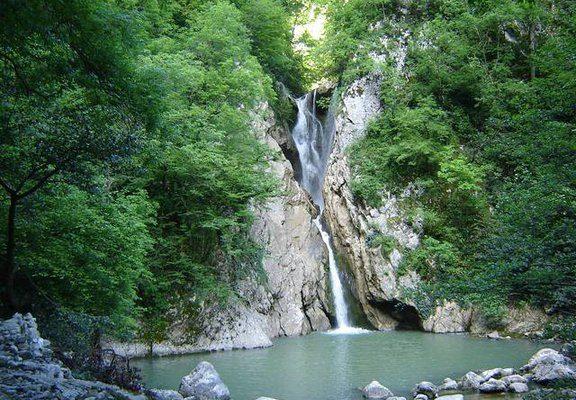 Северный Кавказ. Агурские водопады